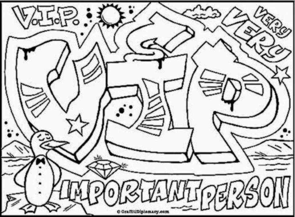 Get This Graffiti Coloring Pages Free Printable 16479