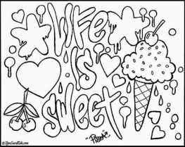 Graffiti Coloring Pages Free Printable 22398