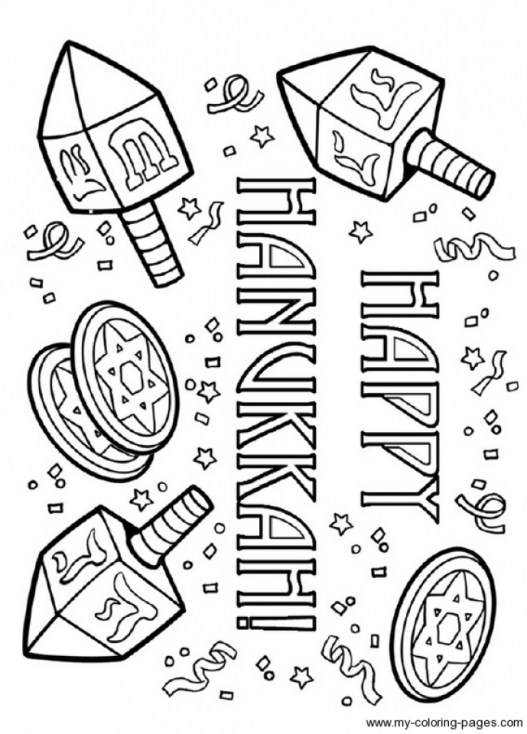 Hanukkah Coloring Pages Printable for Kids xi226