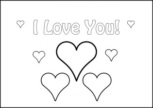 I Love You Coloring Pages Printable for Kids r1n7l