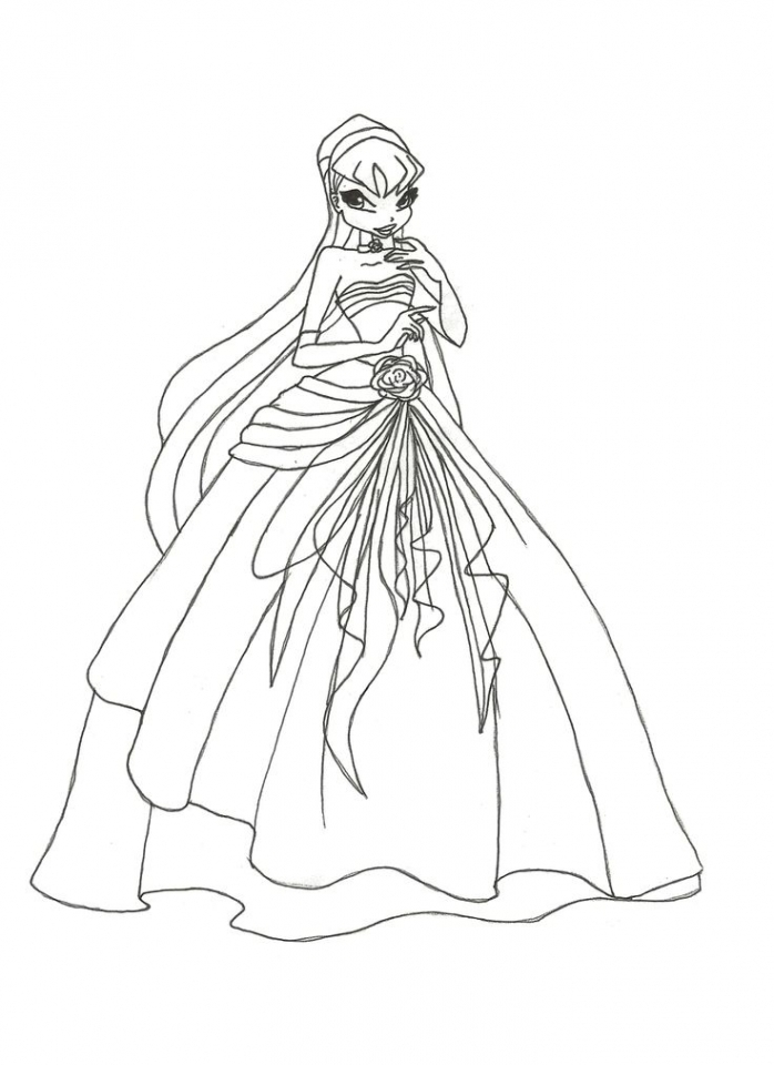 Image of Winx Club Coloring Pages to Print for Kids   uan64