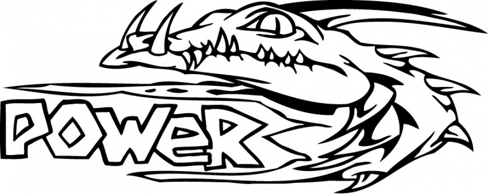 Kids' Printable Alligator Coloring Pages Free Online   p2s2s