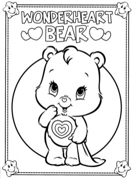 Kids' Printable Care Bear Coloring Pages Free Online p2s2s