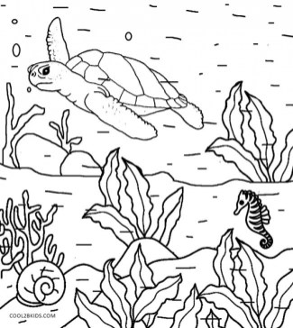 Kids' Printable Nature Coloring Pages x4lk2