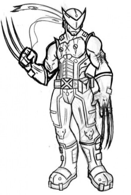 Kids' Printable Wolverine Coloring Pages Free Online cIxtO