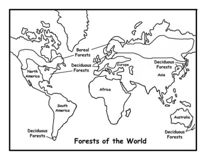 Kids' Printable World Map Coloring Pages Free Online p2s2s