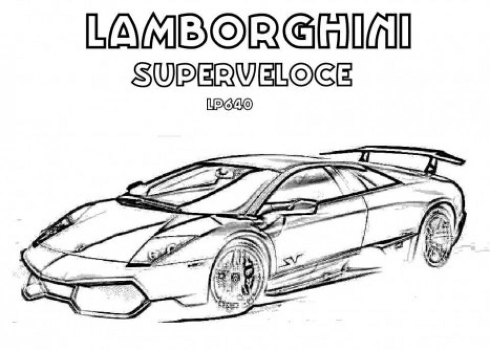 Lamborghini Coloring Pages Free Printable   9466