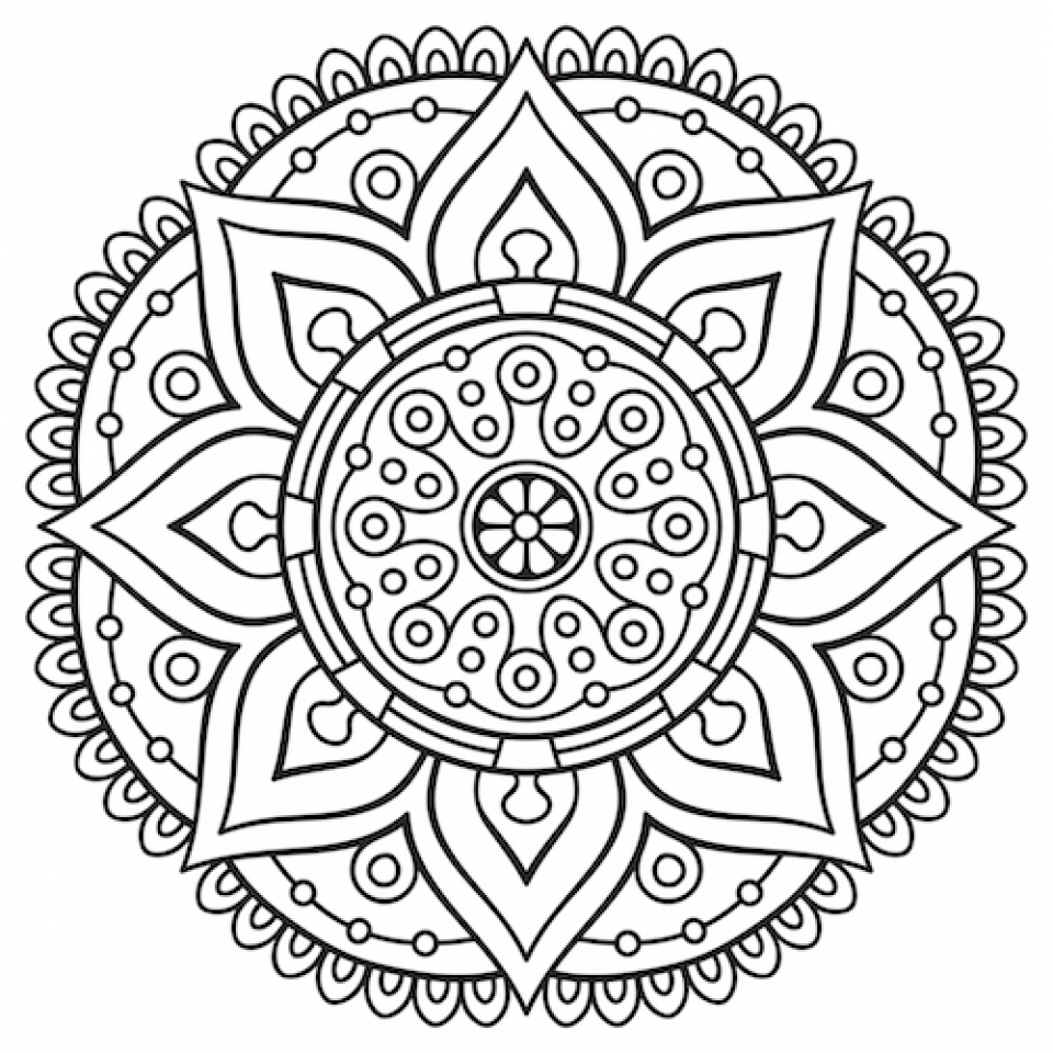 Get This Mandala Coloring Pages For Adults Free Printable ... | free mandala coloring pages for adults printables