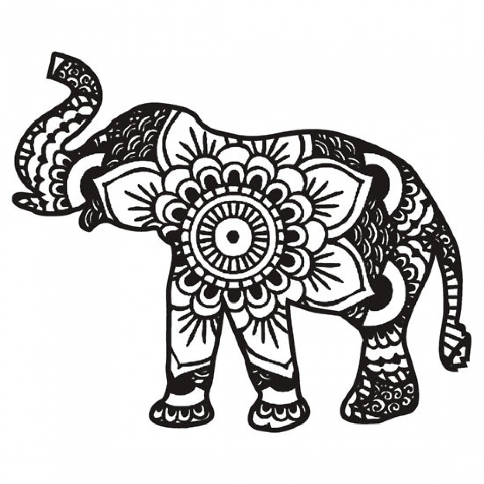 Top 20 Free Printable Elephant Coloring Pages Online | Elephant ... | 960x960