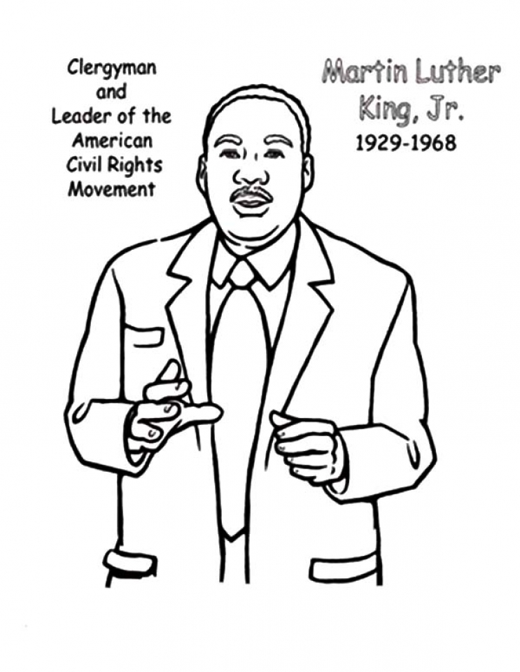 Martin Luther King Day Coloring Pages for Kids - Preschool and ... | 960x743