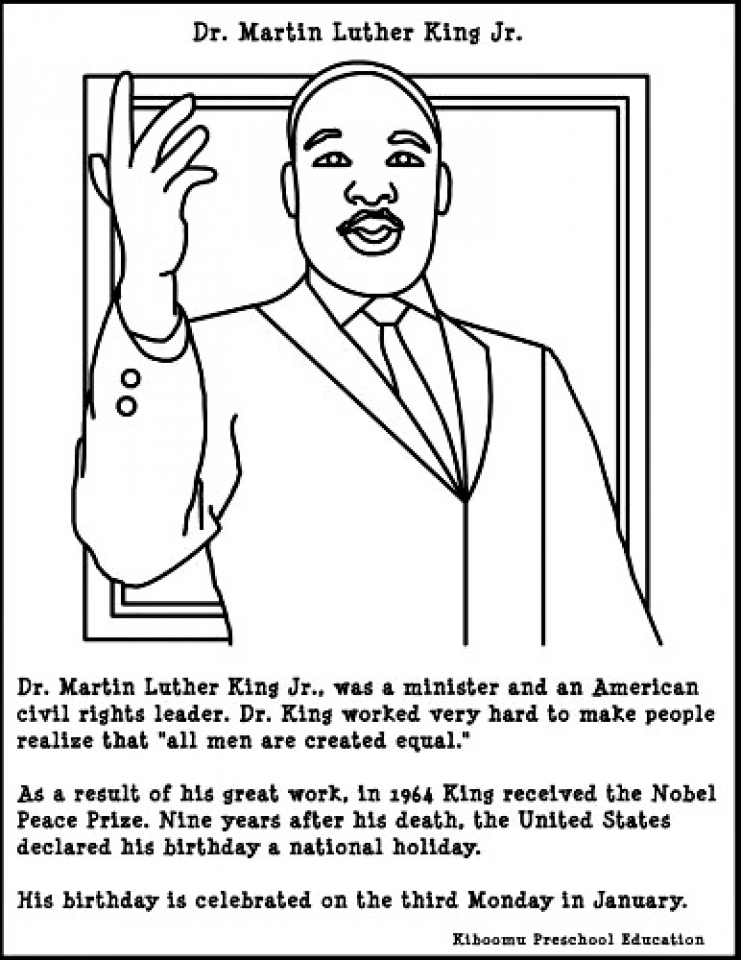 - Get This Martin Luther King Jr Coloring Pages Free To Print J6hdb !