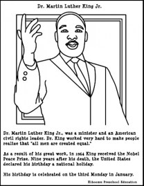 Martin Luther King Jr Coloring Pages Free to Print j6hdb