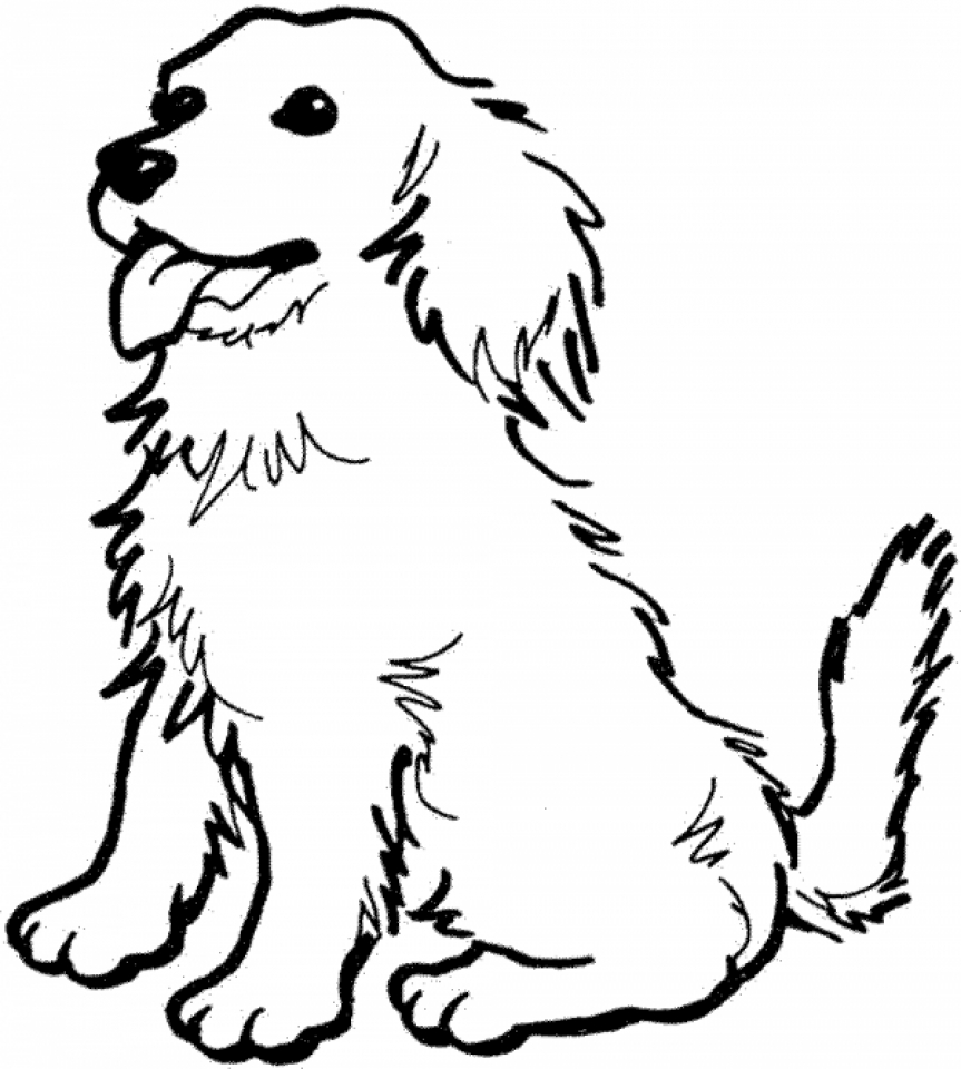Online Coloring Pages Of Dogs   60096