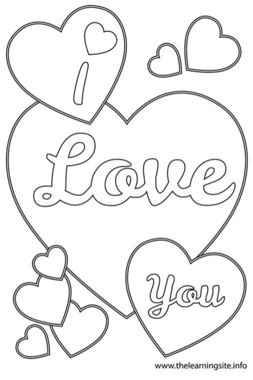 Online I Love You Coloring Pages for Kids sz5em