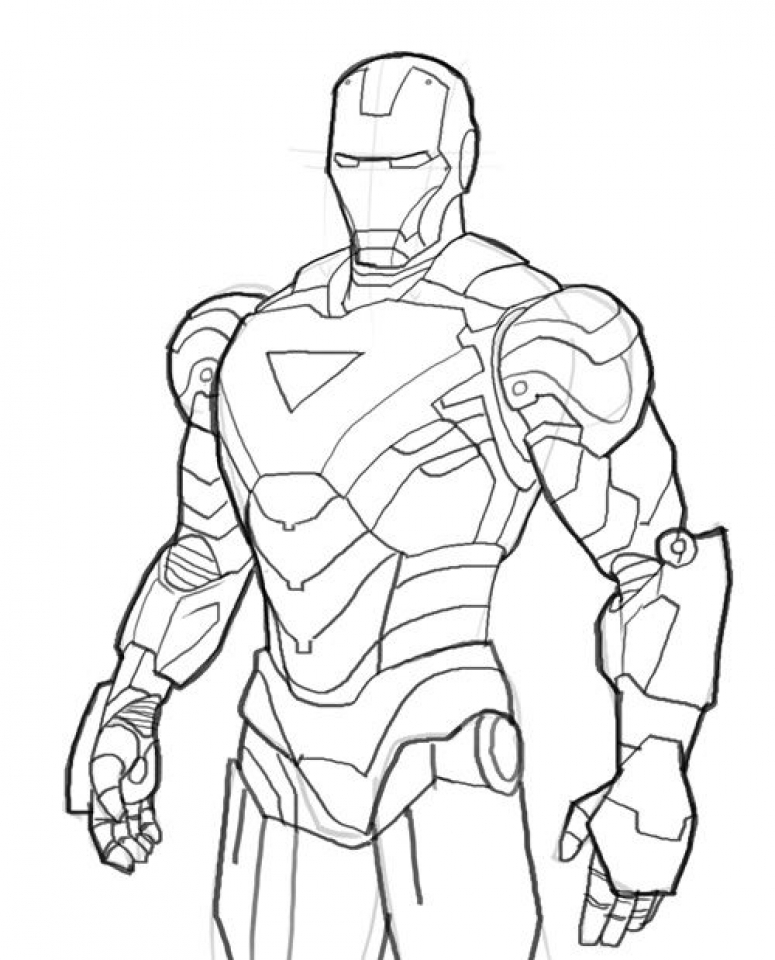Online Ironman Coloring Pages   60096