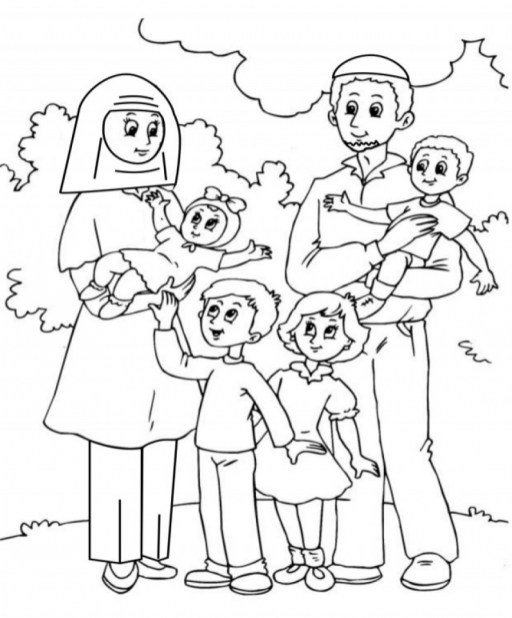 Online Printable Family Coloring Pages rczoz
