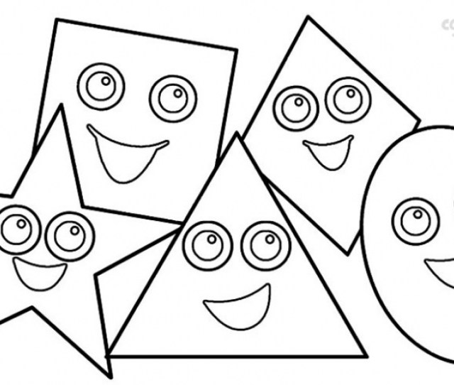 Free Printable Shapes Coloring Pages Everfreecoloring Com