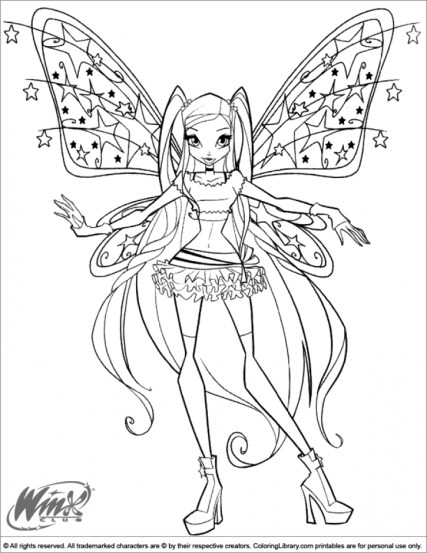 Online Printable Winx Club Coloring Pages rczoz