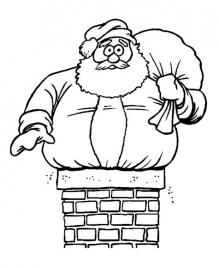 Online Santa Coloring Page 37425