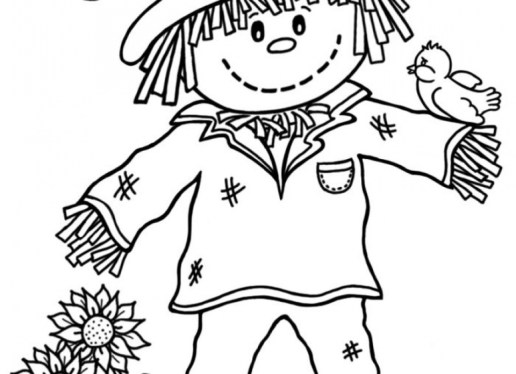 Online Scarecrow Coloring Pages to Print aycRt