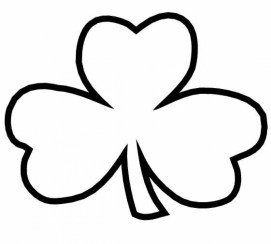 Online Shamrock Coloring Pages for Kids sz5em