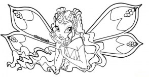 Online Winx Club Coloring Pages for Kids sz5em