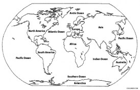 Online World Map Coloring Pages for Kids sz5em