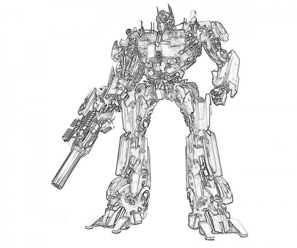 Optimus Prime Coloring Page to Print Online   lj8rr