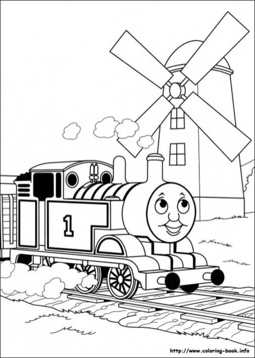 Picture of Thomas And Friends Coloring Pages Free for Children S4lii