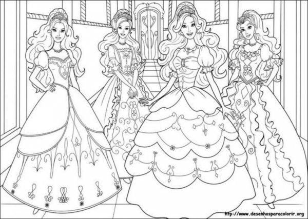 barbie coloring pages free # 77