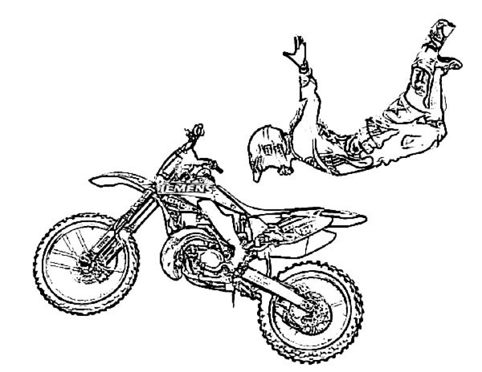 Get This Preschool Printables of Dirt Bike Coloring Pages ...