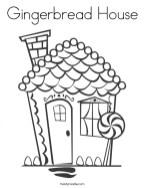 Preschool Printables of Gingerbread House Coloring Pages Free jIk30