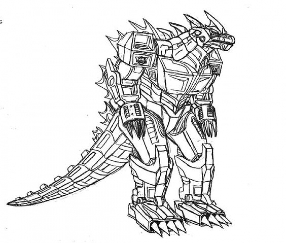Preschool Printables of Godzilla Coloring Pages Free   jIk30