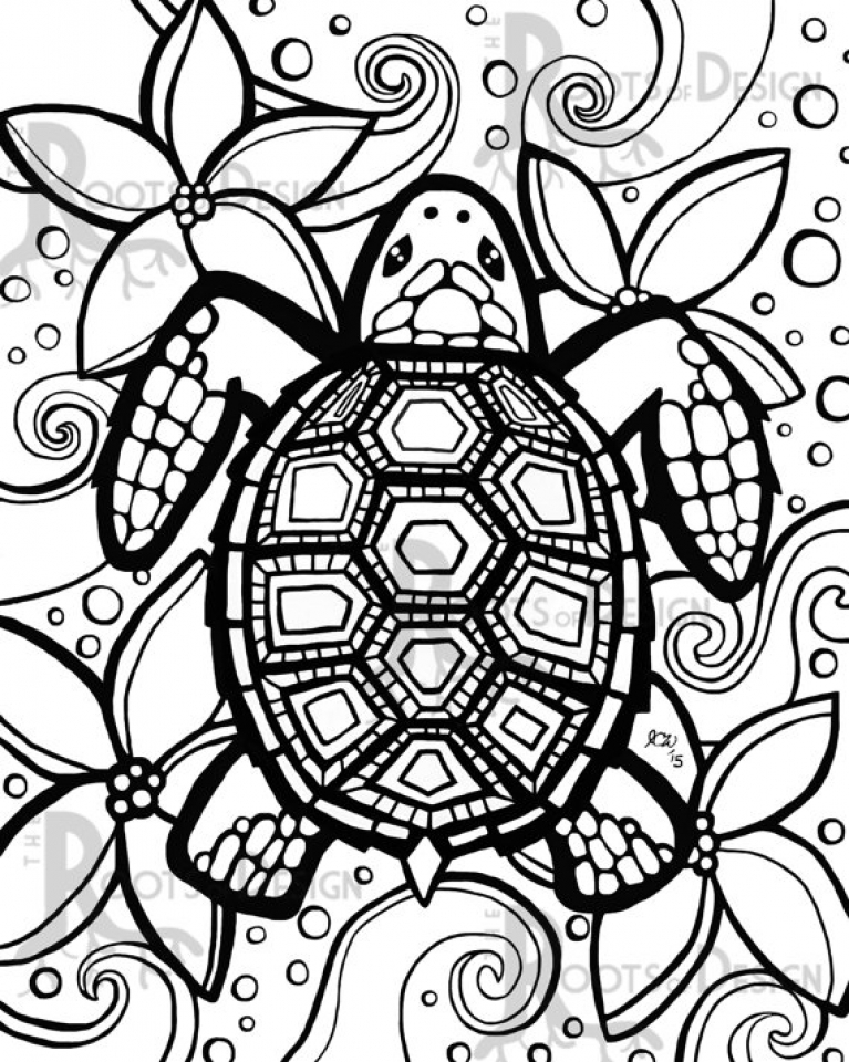 Preschool Turtle Coloring Pages to Print   nob6i