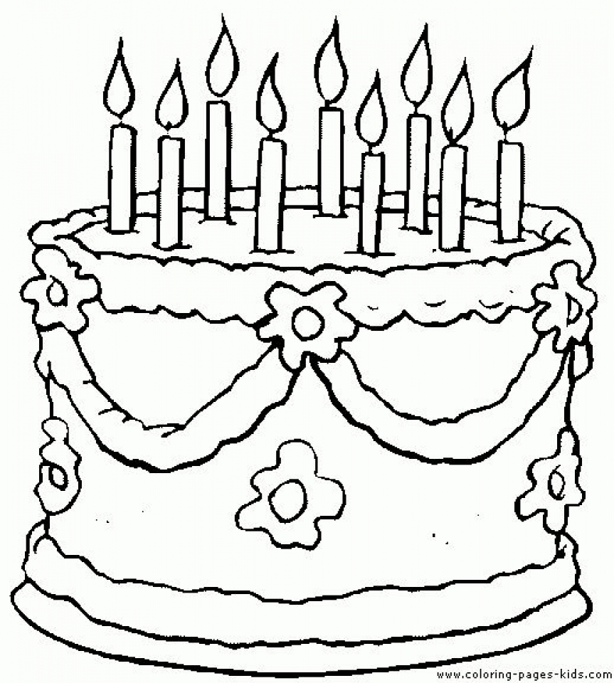 Get This Printable Birthday Cake Coloring Pages 87141