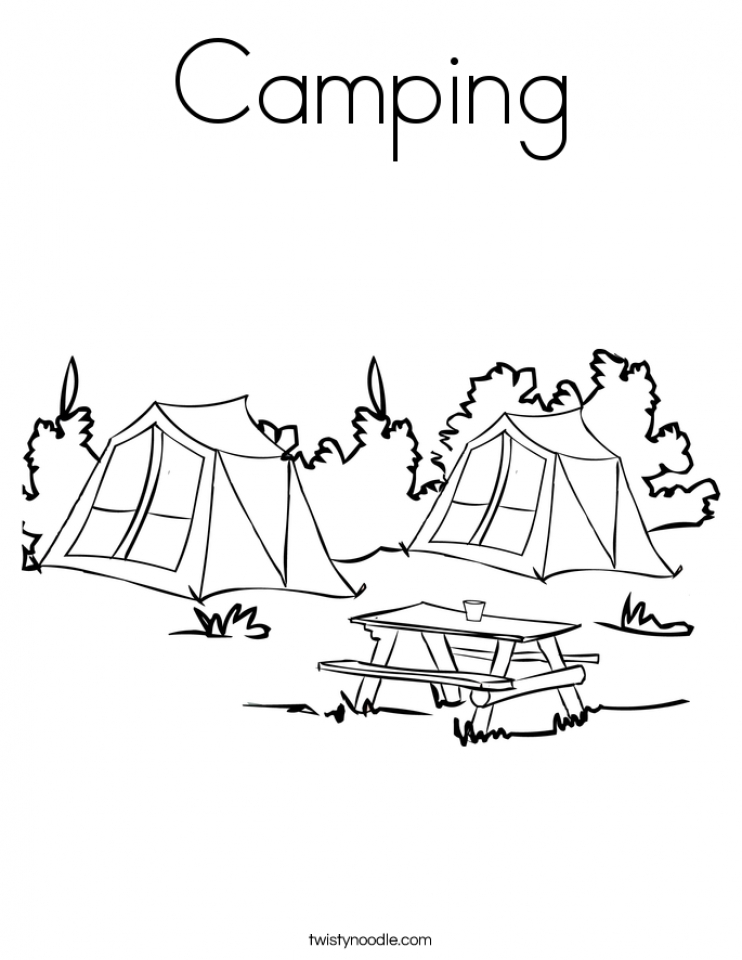 Printable Camping Coloring Pages   29255