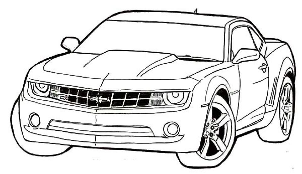 Printable Car Coloring Page   87126