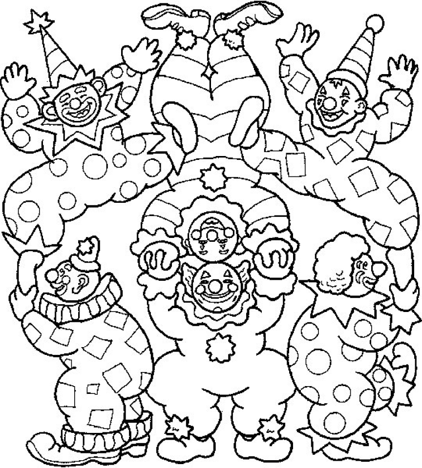 Top 10 Free Printable Funny Clown Coloring Pages Online | 960x864