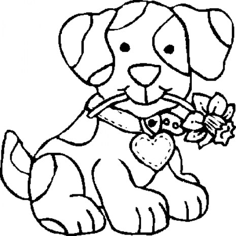 Printable Coloring Pages Of Dogs 41558