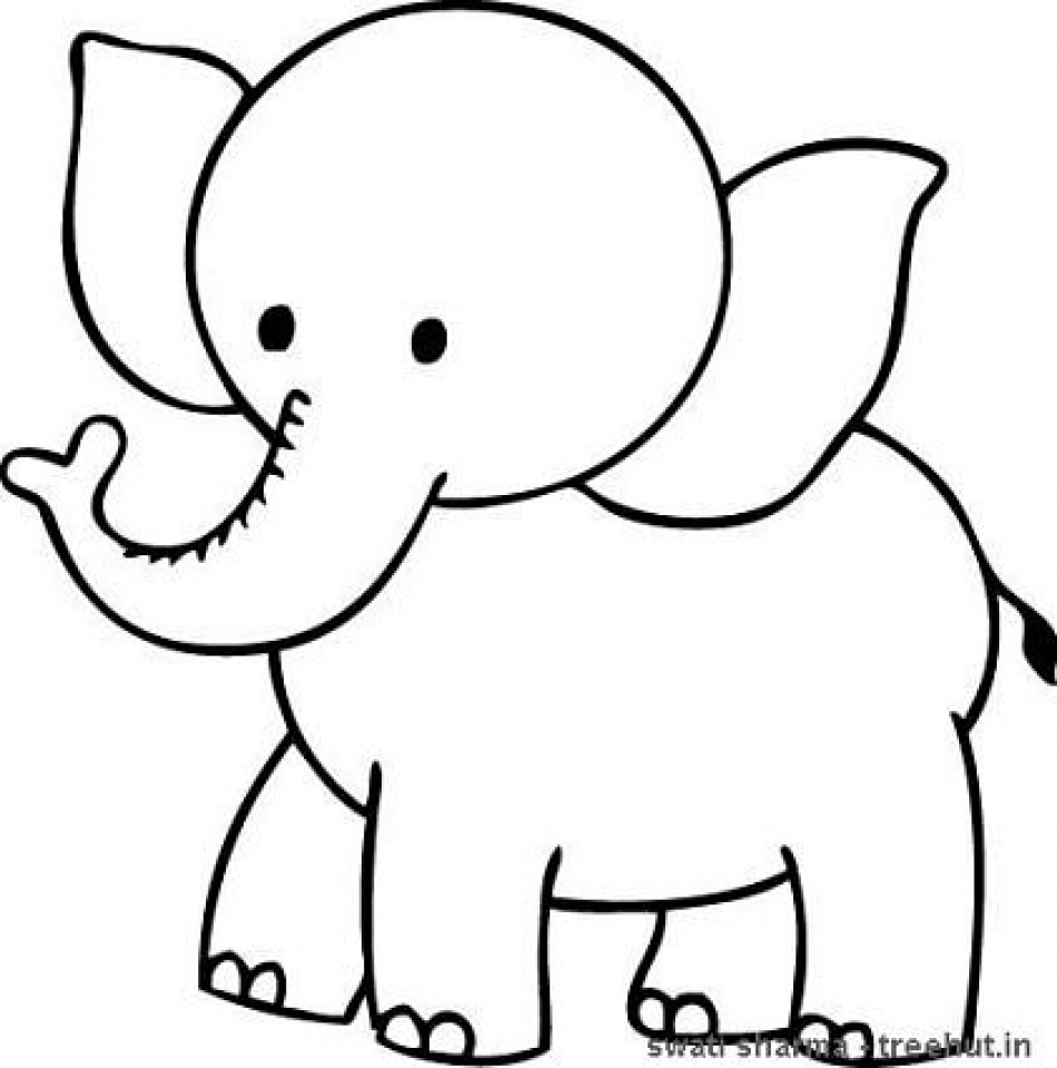 Printable Elephant Coloring Pages for Kids   896531