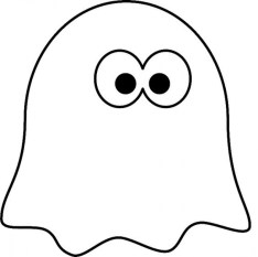 Printable Ghost Coloring Pages 73400