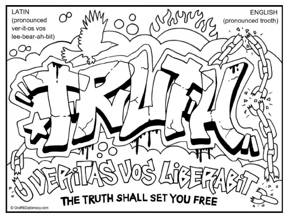 Printable Graffiti Coloring Pages   64912