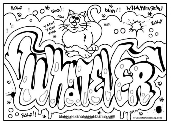 Printable Graffiti Coloring Pages Online 05278