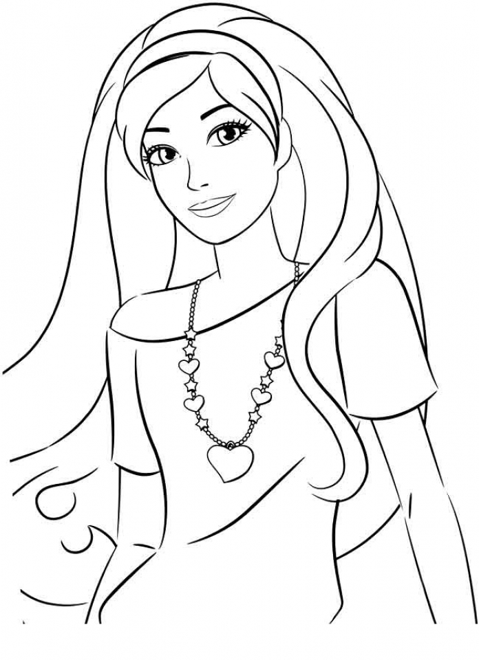Printable Image of Barbie Coloring Pages   t2o1m