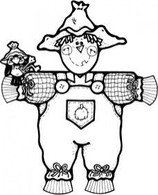 Printable Image of Scarecrow Coloring Pages UpIuI