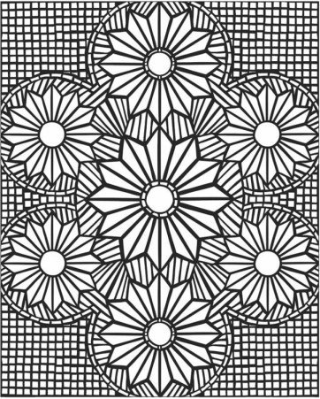 Printable Mosaic Coloring Pages Online 21065