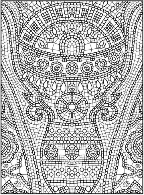 Printable Mosaic Coloring Pages Online 91296