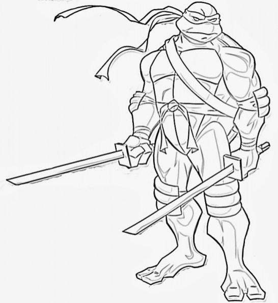 Printable Ninja Turtle Coloring Page 78757