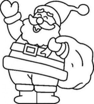 Printable Santa Coloring Page 70550