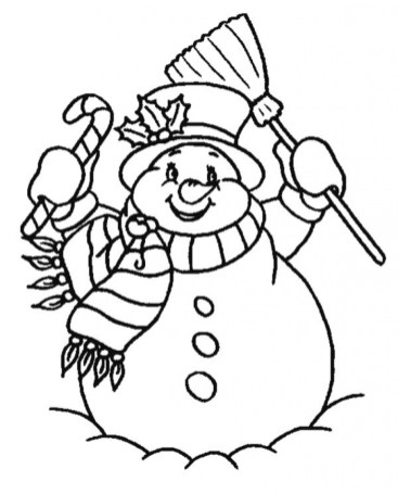 Printable Snowman Coloring Pages Online 59307